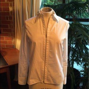 Rag & Bone zip front blouse